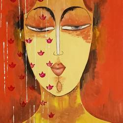 calm, 14 x 22 inch, ramya arumugam,14x22inch,thick paper,paintings,abstract paintings,buddha paintings,paintings for dining room,paintings for living room,paintings for bedroom,paintings for bathroom,paintings for kids room,paintings for hotel,paintings for kitchen,paintings for school,acrylic color,poster color,GAL01066145256