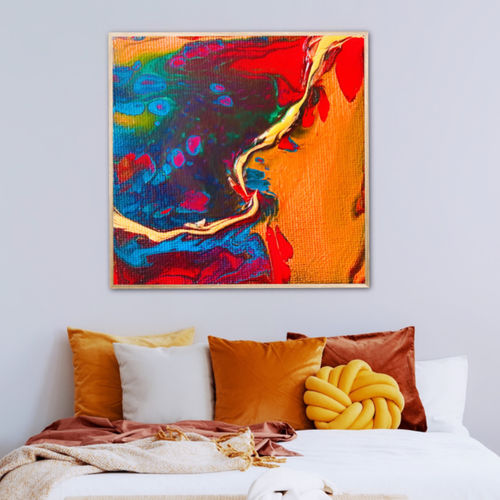 dirty rainbow pour, 22 x 22 inch, flavina varghese,22x22inch,canvas,abstract paintings,contemporary paintings,paintings for dining room,paintings for living room,paintings for bedroom,paintings for office,paintings for hotel,paintings for hospital,paintings for dining room,paintings for living room,paintings for bedroom,paintings for office,paintings for hotel,paintings for hospital,acrylic color,GAL03197745262