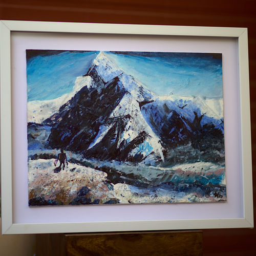 pahaad / mountain / mt. everest  /good vibes, 21 x 17 inch, neha mishra,21x17inch,canvas board,paintings,abstract paintings,landscape paintings,modern art paintings,nature paintings | scenery paintings,abstract expressionism paintings,surrealism paintings,paintings for dining room,paintings for living room,paintings for bedroom,paintings for office,paintings for kids room,paintings for hotel,paintings for school,paintings for hospital,acrylic color,enamel color,natural color,oil color,pastel color,GAL03226745266