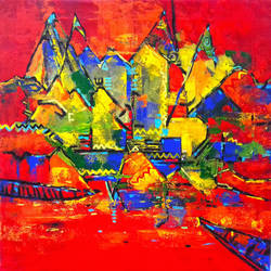 varanasi, 24 x 24 inch, prasanta acharjee,24x24inch,canvas,paintings,abstract paintings,cityscape paintings,modern art paintings,abstract expressionism paintings,impressionist paintings,contemporary paintings,paintings for dining room,paintings for living room,paintings for bedroom,paintings for office,paintings for bathroom,paintings for kids room,paintings for hotel,paintings for kitchen,paintings for school,paintings for hospital,acrylic color,GAL0360545268