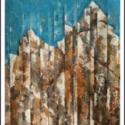 mountains, 24 x 24 inch, anil kumar lakhera,landscape paintings,paintings for living room,paper,acrylic color,24x24inch,GAL015974527