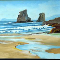 silent seascape, 33 x 25 inch, prafulla  vanmali ,33x25inch,canvas,paintings,nature paintings | scenery paintings,paintings for living room,paintings for hotel,paintings for living room,paintings for hotel,oil color,GAL03084745277