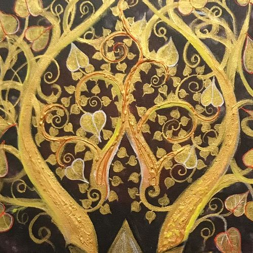 bodhi money tree, 24 x 24 inch, pragati c,24x24inch,canvas,paintings,abstract paintings,buddha paintings,religious paintings,nature paintings   scenery paintings,abstract expressionism paintings,paintings for dining room,paintings for living room,paintings for bedroom,paintings for office,paintings for kids room,paintings for hotel,paintings for school,paintings for hospital,acrylic color,GAL02554645295