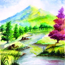 landscape nature painting, 10 x 13 inch, surendra sinha,10x13inch,thick paper,paintings,landscape paintings,nature paintings | scenery paintings,paintings for dining room,paintings for living room,paintings for bedroom,paintings for office,paintings for bathroom,paintings for kids room,paintings for hotel,paintings for kitchen,paintings for school,paintings for hospital,paintings for dining room,paintings for living room,paintings for bedroom,paintings for office,paintings for hotel,watercolor,paper,GAL03257945297
