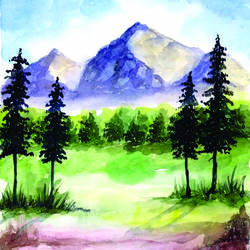 landscape nature painting, 10 x 13 inch, surendra sinha,10x13inch,paper,paintings,landscape paintings,nature paintings | scenery paintings,paintings for dining room,paintings for living room,paintings for bedroom,paintings for office,paintings for bathroom,paintings for kids room,paintings for hotel,paintings for kitchen,paintings for school,paintings for hospital,watercolor,paper,GAL03257945298