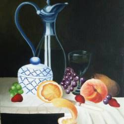 still life, 26 x 20 inch, jhanvi shah,photorealism drawings,paintings for dining room,still life paintings,canvas,,26x20inch,GAL015884531