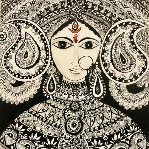eternal mother, 12 x 14 inch, harmeet kaur,12x14inch,thick paper,drawings,art deco drawings,fine art drawings,paintings for living room,paintings for bedroom,paintings for office,paintings for kids room,paintings for school,paintings for hospital,ink color,pen color,photo ink,GAL01457845316