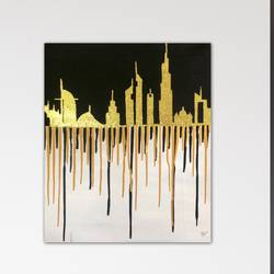 city of gold, 20 x 30 inch, flavina varghese,20x30inch,canvas,paintings,foil paintings,cityscape paintings,landscape paintings,modern art paintings,photorealism,pop art paintings,paintings for dining room,paintings for living room,paintings for bedroom,paintings for office,paintings for hotel,paintings for school,paintings for hospital,acrylic color,mixed media,metal,GAL03197745319
