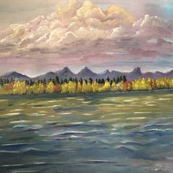 the pretty sunset , 24 x 18 inch, debapriya bhattacharya,24x18inch,canvas,paintings,landscape paintings,nature paintings | scenery paintings,paintings for dining room,paintings for living room,paintings for bedroom,paintings for office,paintings for bathroom,paintings for kids room,paintings for hotel,paintings for kitchen,paintings for school,paintings for hospital,oil color,GAL01491345332