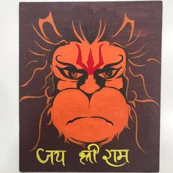 lord hanumanji , 10 x 12 inch, kunjal patel,10x12inch,canvas,paintings,religious paintings,paintings for living room,paintings for office,paintings for school,paintings for hospital,paintings for living room,paintings for office,paintings for school,paintings for hospital,acrylic color,GAL03266245372