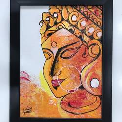 shakti painting, 9 x 12 inch, kunjal patel,9x12inch,canvas board,paintings,religious paintings,contemporary paintings,paintings for dining room,paintings for living room,paintings for office,paintings for hotel,paintings for school,paintings for hospital,acrylic color,GAL03266245377