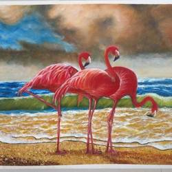 flamingo, 18 x 28 inch, jyoti manani (deaf & dumb),18x28inch,canson paper,paintings,wildlife paintings,photorealism paintings,realism paintings,paintings for dining room,paintings for living room,paintings for bedroom,paintings for office,paintings for bathroom,paintings for kids room,paintings for hotel,paintings for kitchen,paintings for school,paintings for hospital,oil color,GAL02051945388