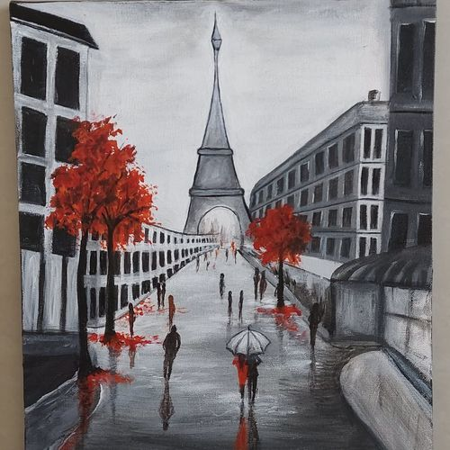 paris, 14 x 18 inch, jyoti manani (deaf & dumb),14x18inch,canvas board,paintings,cityscape paintings,photorealism paintings,pop art paintings,paintings for dining room,paintings for living room,paintings for bedroom,paintings for office,paintings for bathroom,paintings for kids room,paintings for hotel,paintings for kitchen,paintings for school,paintings for hospital,acrylic color,GAL02051945391