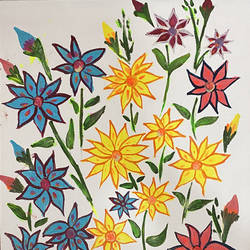 neon flower painting , 18 x 14 inch, pooja lokhande,18x14inch,canvas,paintings,wildlife paintings,flower paintings,landscape paintings,modern art paintings,nature paintings | scenery paintings,paintings for dining room,paintings for living room,paintings for office,paintings for bathroom,paintings for kids room,paintings for hotel,paintings for kitchen,paintings for school,paintings for hospital,acrylic color,GAL0420545412