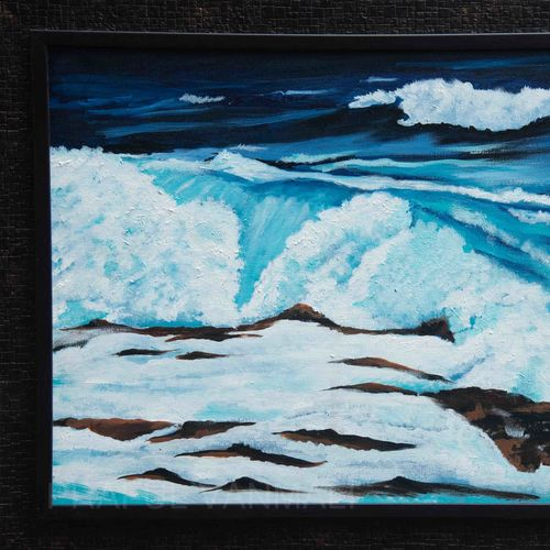 violent sea in blue shade, 28 x 22 inch, prafulla  vanmali ,28x22inch,canvas,paintings,realistic paintings,paintings for dining room,paintings for living room,paintings for office,paintings for hotel,paintings for hospital,paintings for dining room,paintings for living room,paintings for office,paintings for hotel,paintings for hospital,acrylic color,GAL03084745446