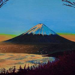 mount fuji, 15 x 12 inch, ravikumar eranna sarode ,15x12inch,canvas,paintings,abstract paintings,wildlife paintings,figurative paintings,flower paintings,foil paintings,landscape paintings,conceptual paintings,still life paintings,nature paintings   scenery paintings,art deco paintings,expressionism paintings,illustration paintings,impressionist paintings,minimalist paintings,photorealism paintings,photorealism,realism paintings,surrealism paintings,contemporary paintings,paintings for dining room,paintings for living room,paintings for bedroom,paintings for office,paintings for bathroom,paintings for kids room,paintings for hotel,paintings for kitchen,paintings for school,paintings for hospital,acrylic color,GAL02901245471