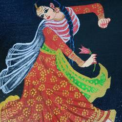 the dance and divine bliss, 8 x 10 inch, krithika srinivasan,8x10inch,canvas board,paintings,folk art paintings,acrylic color,GAL03270145492