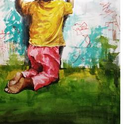 freedom, 11 x 16 inch, soyli saha,11x16inch,brustro watercolor paper,paintings,figurative paintings,modern art paintings,conceptual paintings,baby paintings,paintings for dining room,paintings for living room,paintings for bedroom,paintings for office,paintings for bathroom,paintings for kids room,paintings for hotel,paintings for kitchen,paintings for school,paintings for hospital,watercolor,GAL0606545509