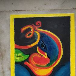 wall painting, 8 x 10 inch, priyanka sharda,8x10inch,canvas,paintings,ganesha paintings   lord ganesh paintings,paintings for hospital,oil color,GAL03276245524