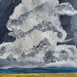 storm, 11 x 16 inch, nandita basu,11x16inch,fabriano sheet,paintings,landscape paintings,nature paintings | scenery paintings,paintings for dining room,paintings for living room,paintings for office,paintings for hotel,acrylic color,paper,GAL01781145527
