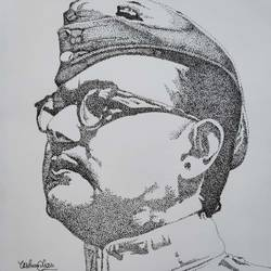 bose babu, 8 x 12 inch, yashvardhan gupta,8x12inch,canson paper,drawings,portrait drawings,paintings for school,ink color,GAL03279645535