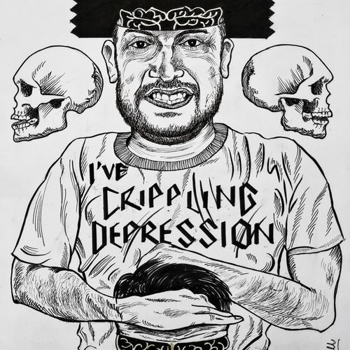 i've crippling depression , 8 x 12 inch, yashvardhan gupta,8x12inch,canson paper,drawings,abstract expressionism drawings,paintings for living room,ink color,GAL03279645536