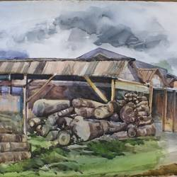 dinajpur wooden factory, 30 x 22 inch, krishna  mondal ,30x22inch,paper,paintings,cityscape paintings,modern art paintings,illustration paintings,realism paintings,paintings for dining room,paintings for living room,paintings for bedroom,paintings for office,paintings for bathroom,paintings for kids room,paintings for hotel,paintings for kitchen,watercolor,GAL03095445544