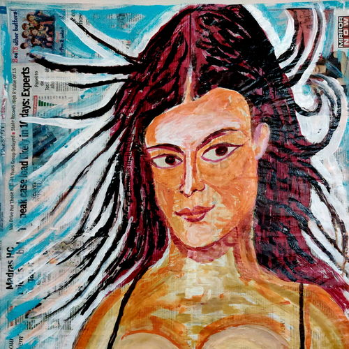 divine beauty, 21 x 27 inch, anand manchiraju,21x27inch,canvas,paintings,figurative paintings,abstract expressionism paintings,paintings for dining room,paintings for living room,paintings for bedroom,paintings for office,paintings for kids room,paintings for hotel,paintings for school,paintings for hospital,acrylic color,GAL01254045601