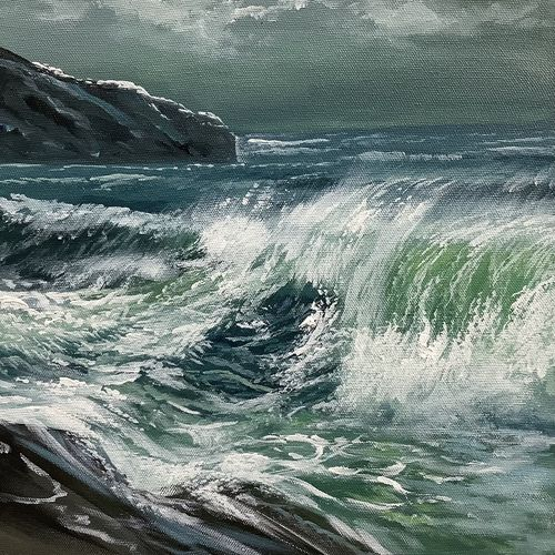 sea waves realistic artwork, 24 x 24 inch, artoholic p,24x24inch,canvas,paintings,landscape paintings,conceptual paintings,nature paintings   scenery paintings,art deco paintings,illustration paintings,impressionist paintings,minimalist paintings,photorealism paintings,photorealism,realism paintings,surrealism paintings,realistic paintings,water fountain paintings,paintings for dining room,paintings for living room,paintings for bedroom,paintings for office,paintings for bathroom,paintings for kids room,paintings for hotel,paintings for kitchen,paintings for school,paintings for hospital,acrylic color,GAL02078845607