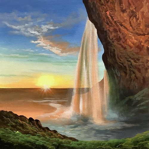 relaxing fountain view (artoholic), 24 x 24 inch, artoholic p,24x24inch,canvas,paintings,wildlife paintings,cityscape paintings,landscape paintings,conceptual paintings,nature paintings | scenery paintings,art deco paintings,cubism paintings,expressionism paintings,illustration paintings,impressionist paintings,minimalist paintings,photorealism paintings,photorealism,portraiture,realism paintings,surrealism paintings,realistic paintings,water fountain paintings,paintings for dining room,paintings for living room,paintings for bedroom,paintings for office,paintings for bathroom,paintings for kids room,paintings for hotel,paintings for kitchen,paintings for school,paintings for hospital,acrylic color,GAL02078845609