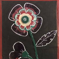flower design with cd player, 9 x 12 inch, selvaraj g,9x12inch,hardboard,handicrafts,wall hangings,acrylic color,pen color,pencil color,glass,GAL03230145717