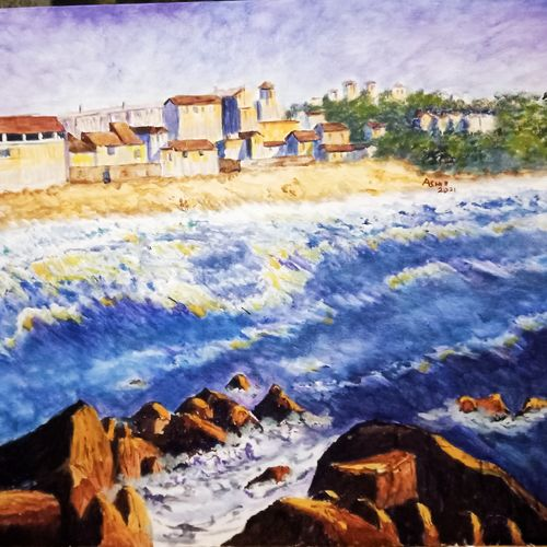 rocky and rough, 24 x 20 inch, aswin s,24x20inch,canvas board,paintings,landscape paintings,acrylic color,poster color,GAL03293545733