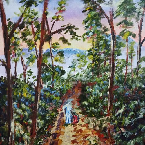 woodland chaos, 24 x 30 inch, aswin s,24x30inch,canvas board,paintings,landscape paintings,acrylic color,GAL03293545736