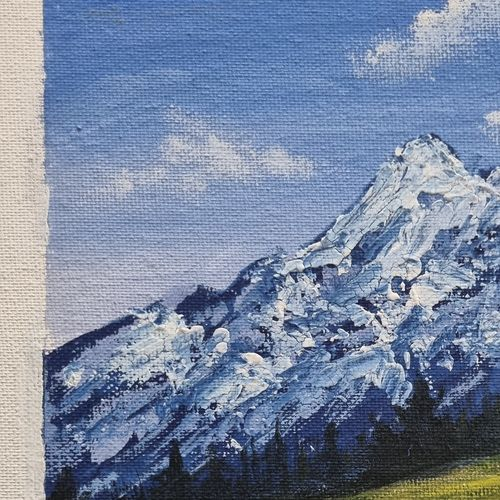 small landscape painting, 8 x 10 inch, prathika jayaram,8x10inch,canvas board,nature paintings   scenery paintings,paintings for dining room,paintings for living room,paintings for bedroom,paintings for office,paintings for dining room,paintings for living room,paintings for bedroom,paintings for office,watercolor,GAL03294445756