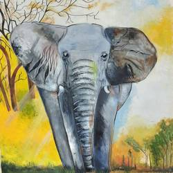 silent grace, 11 x 16 inch, kamakshi kannan,11x16inch,thick paper,wildlife paintings,paintings for dining room,paintings for living room,paintings for kids room,paintings for dining room,paintings for living room,paintings for kids room,acrylic color,watercolor,GAL02860645763
