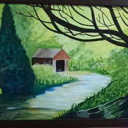 nature scenery, 22 x 15 inch, vandana singh,landscape paintings,paintings for living room,thick paper,watercolor,22x15inch,GAL012884578