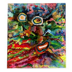 colourburst planets , 60 x 60 inch, aastha khanna,60x60inch,canvas,paintings,abstract paintings,mixed media,GAL03280745789