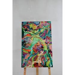 abstract painting 7, 32 x 48 inch, aastha khanna,32x48inch,canvas board,paintings,abstract paintings,mixed media,GAL03280745792