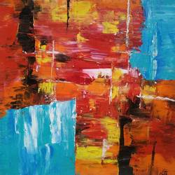 separation, 16 x 16 inch, mahesh  giri,16x16inch,canvas,paintings,abstract paintings,modern art paintings,abstract expressionism paintings,expressionism paintings,paintings for living room,paintings for office,paintings for hotel,paintings for living room,paintings for office,paintings for hotel,acrylic color,GAL03154245881