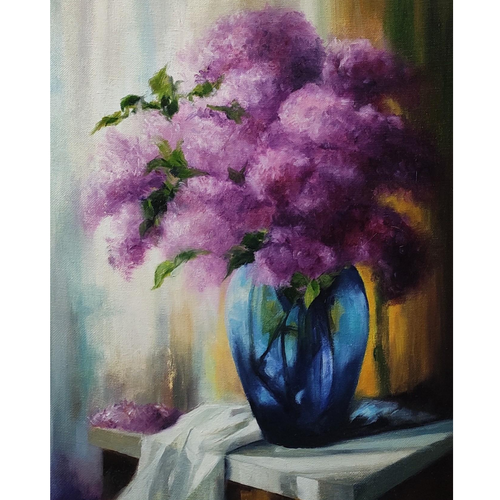 still life (flower pot), 12 x 16 inch, nilesh  nikalje,12x16inch,canvas,paintings,flower paintings,conceptual paintings,still life paintings,nature paintings | scenery paintings,impressionist paintings,realism paintings,paintings for dining room,paintings for living room,paintings for bedroom,paintings for office,paintings for bathroom,paintings for kids room,paintings for hotel,paintings for kitchen,paintings for school,paintings for hospital,oil color,GAL02736845899
