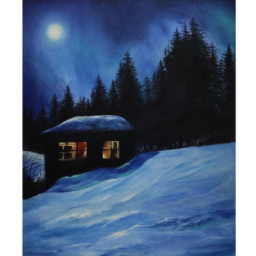 polar night, 18 x 24 inch, nilesh  nikalje,18x24inch,canvas,paintings,cityscape paintings,landscape paintings,conceptual paintings,nature paintings | scenery paintings,abstract expressionism paintings,expressionism paintings,realism paintings,realistic paintings,paintings for dining room,paintings for living room,paintings for bedroom,paintings for office,paintings for bathroom,paintings for kids room,paintings for hotel,paintings for kitchen,paintings for school,paintings for hospital,oil color,GAL02736845905
