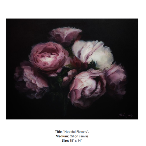 hopeful flowers, 18 x 14 inch, nilesh  nikalje,18x14inch,canvas,paintings,flower paintings,conceptual paintings,still life paintings,nature paintings | scenery paintings,photorealism paintings,photorealism,realism paintings,surrealism paintings,contemporary paintings,realistic paintings,paintings for dining room,paintings for living room,paintings for bedroom,paintings for office,paintings for bathroom,paintings for kids room,paintings for hotel,paintings for kitchen,paintings for school,paintings for hospital,oil color,GAL02736845907