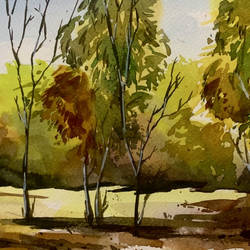 forest watercolor on paper digital print, 12 x 18 inch, prasenjit mishra,12x18inch,cartridge paper,paintings,landscape paintings,photo ink,GAL03306745918