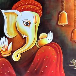 lord ganesha (artoholic), 36 x 24 inch, artoholic p,36x24inch,canvas,paintings,modern art paintings,conceptual paintings,religious paintings,portrait paintings,abstract expressionism paintings,art deco paintings,cubism paintings,dada paintings,expressionism paintings,illustration paintings,impressionist paintings,minimalist paintings,photorealism paintings,photorealism,portraiture,realism paintings,surrealism paintings,ganesha paintings | lord ganesh paintings,realistic paintings,lord shiva paintings,paintings for dining room,paintings for living room,paintings for bedroom,paintings for office,paintings for kids room,paintings for hotel,paintings for kitchen,paintings for school,paintings for hospital,acrylic color,GAL02078845956