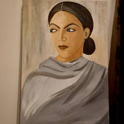 the look, 24 x 36 inch, kankana  chaudhury ,24x36inch,canvas,portrait paintings,paintings for dining room,paintings for living room,paintings for office,paintings for hotel,paintings for dining room,paintings for living room,paintings for office,paintings for hotel,oil color,GAL01885945990
