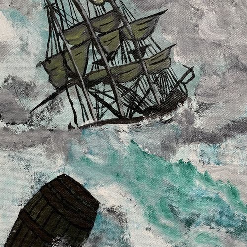 seastorm, 12 x 16 inch, madhu tiwary,12x16inch,canvas,paintings,nature paintings | scenery paintings,paintings for dining room,paintings for living room,paintings for bedroom,paintings for office,paintings for hotel,paintings for school,acrylic color,GAL03109745997