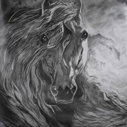 horse, 30 x 24 inch, khushi shah,30x24inch,drawing paper,drawings,fine art drawings,paintings for dining room,paintings for living room,paintings for bedroom,paintings for office,paintings for bathroom,paintings for kids room,paintings for hotel,paintings for kitchen,paintings for school,graphite pencil,GAL03308345998