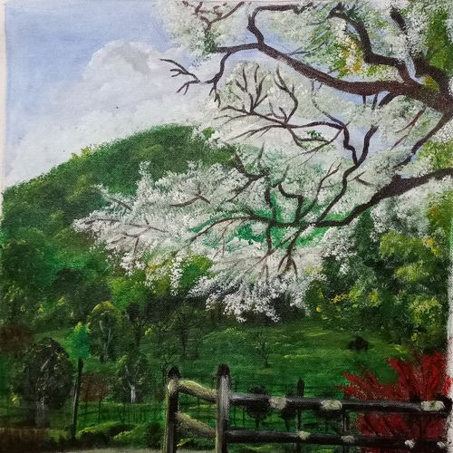 beautiful nature, 14 x 18 inch, paramita goswami,14x18inch,canvas,paintings,landscape paintings,paintings for dining room,paintings for living room,paintings for bedroom,paintings for office,acrylic color,GAL03271846004