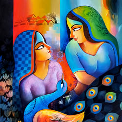 intimecy 2, 36 x 44 inch, sanjay  tandekar ,36x44inch,canvas,paintings,figurative paintings,modern art paintings,paintings for living room,paintings for office,paintings for hotel,paintings for hospital,acrylic color,GAL0281046008
