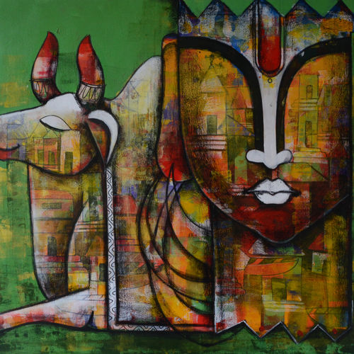 emotional  attachment, 42 x 36 inch, anupam  pal,42x36inch,canvas,paintings,abstract paintings,buddha paintings,figurative paintings,folk art paintings,foil paintings,cityscape paintings,landscape paintings,modern art paintings,nature paintings | scenery paintings,art deco paintings,cubism paintings,dada paintings,photorealism paintings,surrealism paintings,radha krishna paintings,contemporary paintings,realistic paintings,water fountain paintings,warli paintings,paintings for dining room,paintings for living room,paintings for bedroom,paintings for office,paintings for bathroom,paintings for kids room,paintings for hotel,paintings for kitchen,paintings for school,paintings for hospital,acrylic color,charcoal,GAL08246017